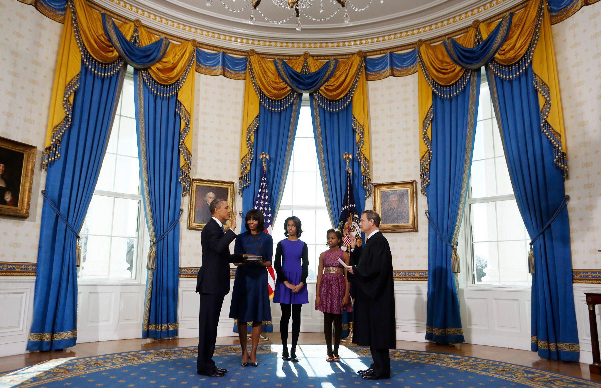 us president office. President Obama Takes The Oath Of Office For His Second Term, January 20, 2013 Us L