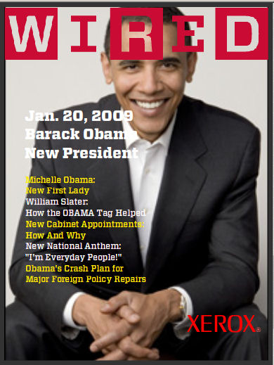 WIRED Magazine (Fantasy) Cover - January 2009 - Barack Obama (THE BEST!)