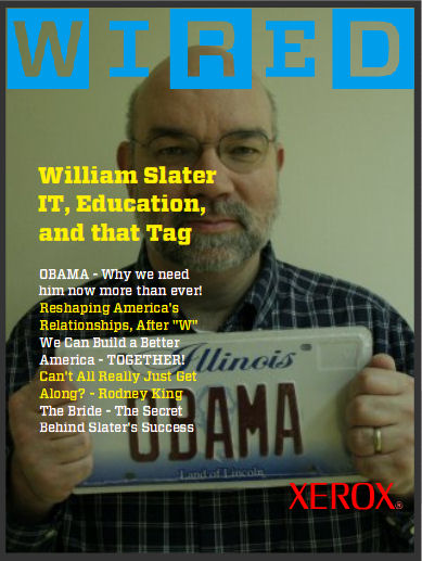 WIRED Magazine Cover # 2 - William F. Slater, III