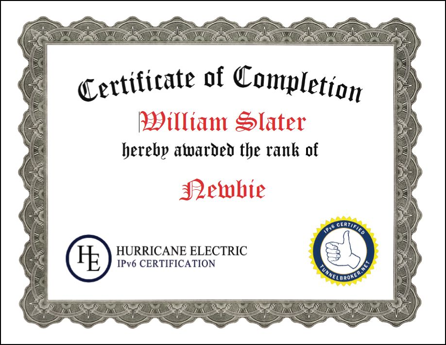 William F. Slater, III - Professional Certifications