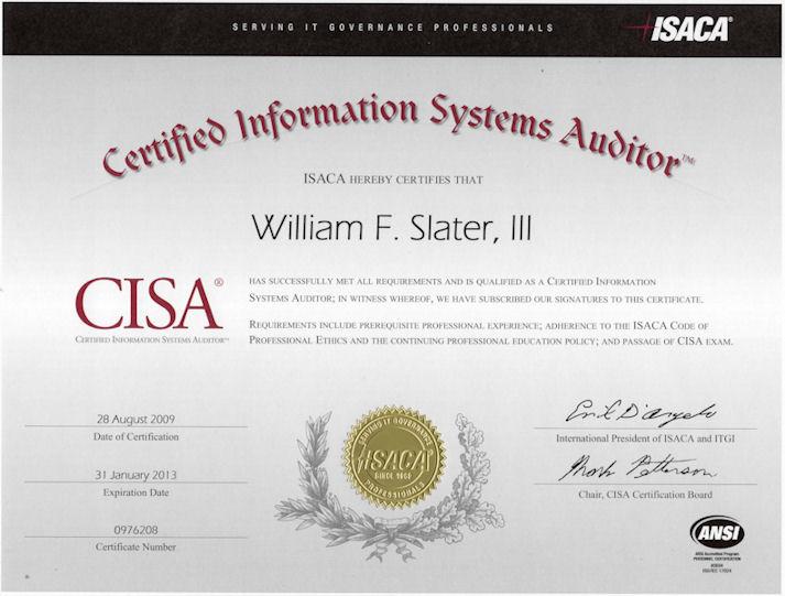 Cisa resume sample