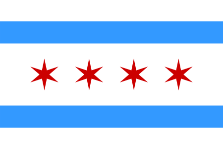 City of Chicago FlagOfficial Chicago Flag